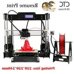 US 3D Printer A8 Prusa i3 Upgrade DIY kit Print Size 220x220