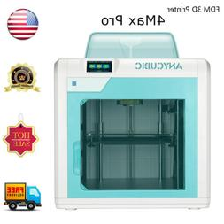 US ANYCUBIC Formax Pro 4Max FDM 3D Printer Enclosed Resume P