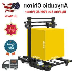 US ANYCUBIC 3D Printer Metal Chiron Dual Z-Axis UI TFT Scree