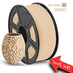 SUNLU Wood 3D Printer Filament Wood PLA Filament 1.75mm 1kg